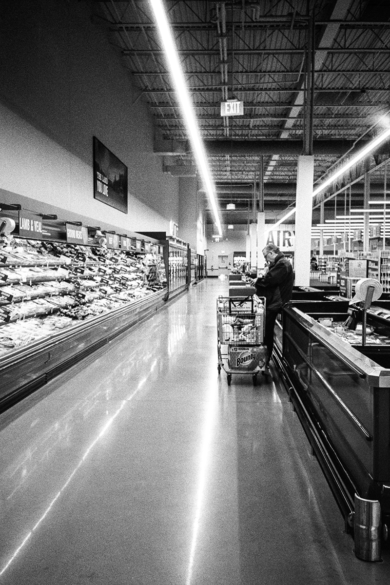 5 Frames... At the local supermarket on my rut-busting Olympus XA2 + ILFORD HP5 PLUS (35mm Format / EI 400) - by Phil Cifone