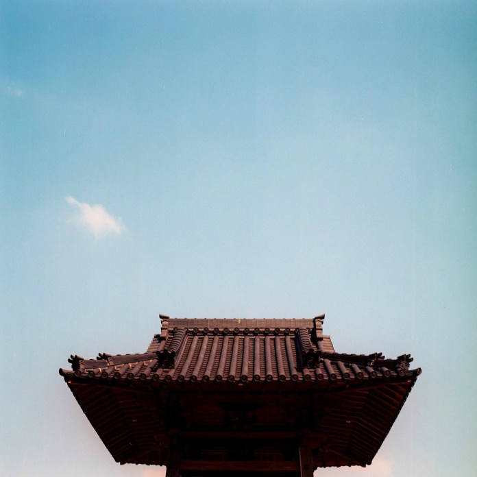 Raise the roof - Fuji NPS 160 shot at EI 100. Color negative film in 120 format shot as 6x6. Over exposed 2/3 of a stop.