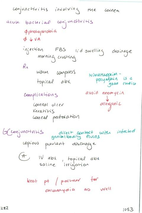 1282  Keratoconjunctivitis is what? // Acute bacterial