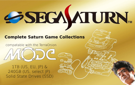Sega Saturn Game Collection on SSD for TerraOnion MODE