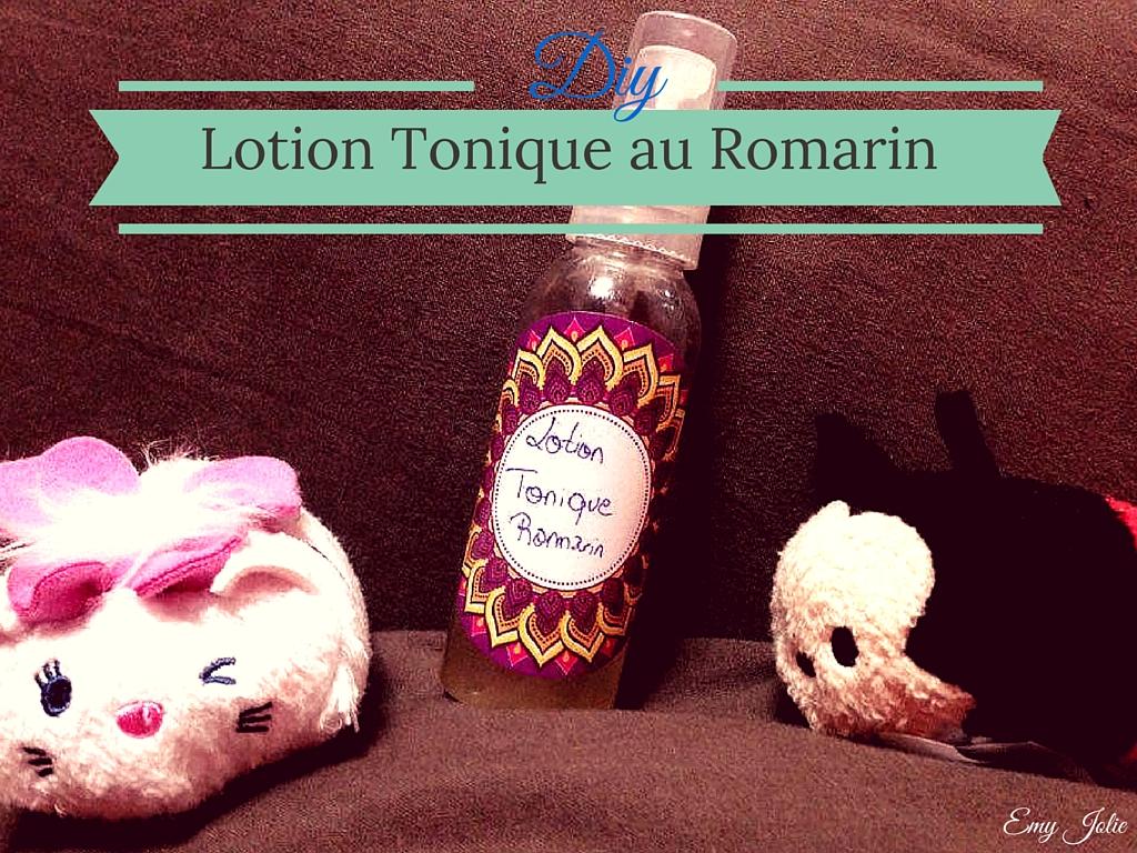 Lotion Tonique pour peaux mixtes au romarin - DIY