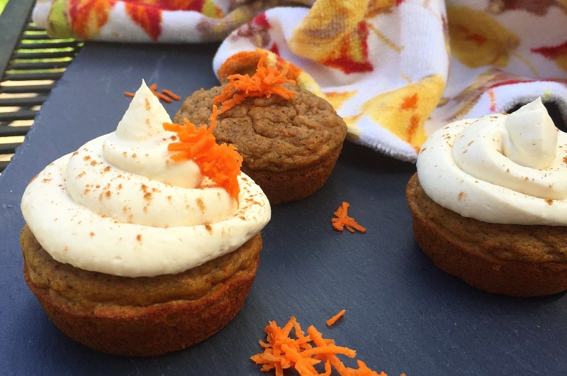 Carrot Cake Protein Cupcakes
