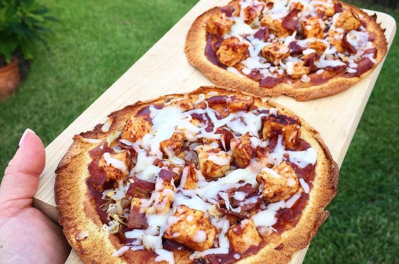 Low Carb Mini BBQ Pizzas