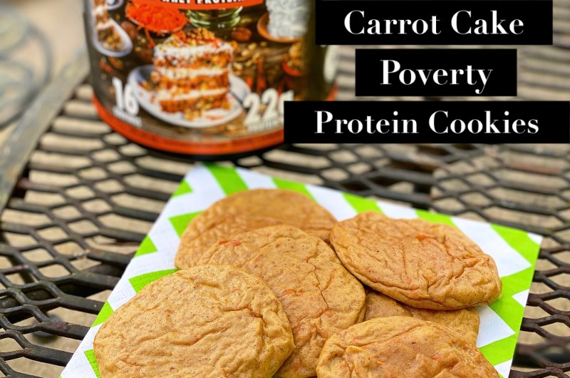 Carrot Cake Poverty Protein Cookies