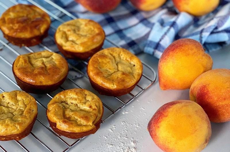 Peach Cobbler Protein Muffins