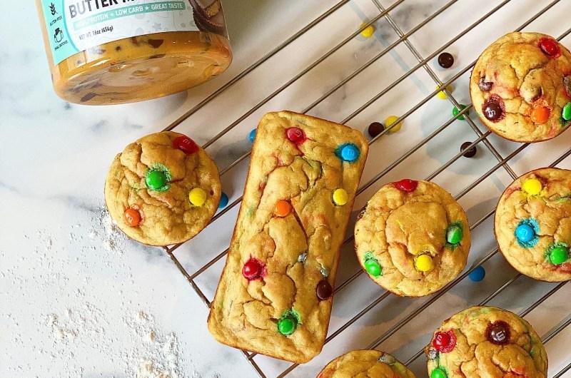 Monster Cookie Peanut Butter Banana Bread