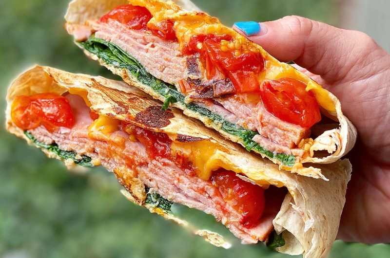 Grilled Cheese Tomato Soup Crunch Wrap