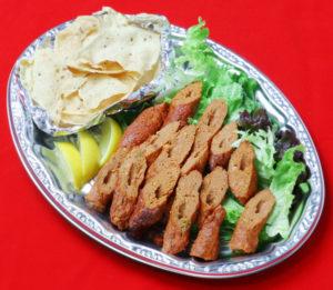 カバブ&パパドプレート/Kabab&Papad plate