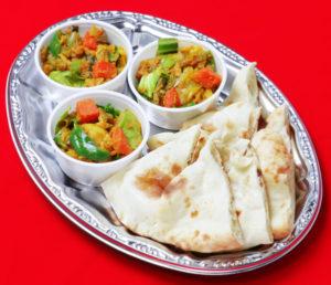 ドライカリーとナンプレート/Drycurry&Naan plate