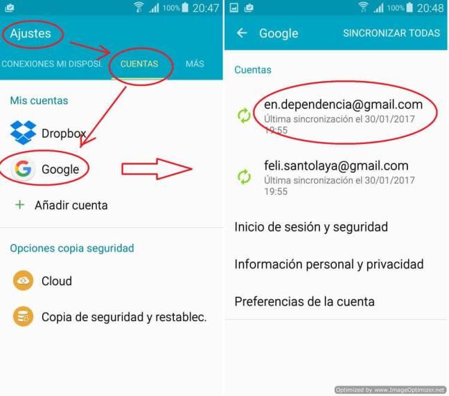 Ajustes de Cuentas en Android