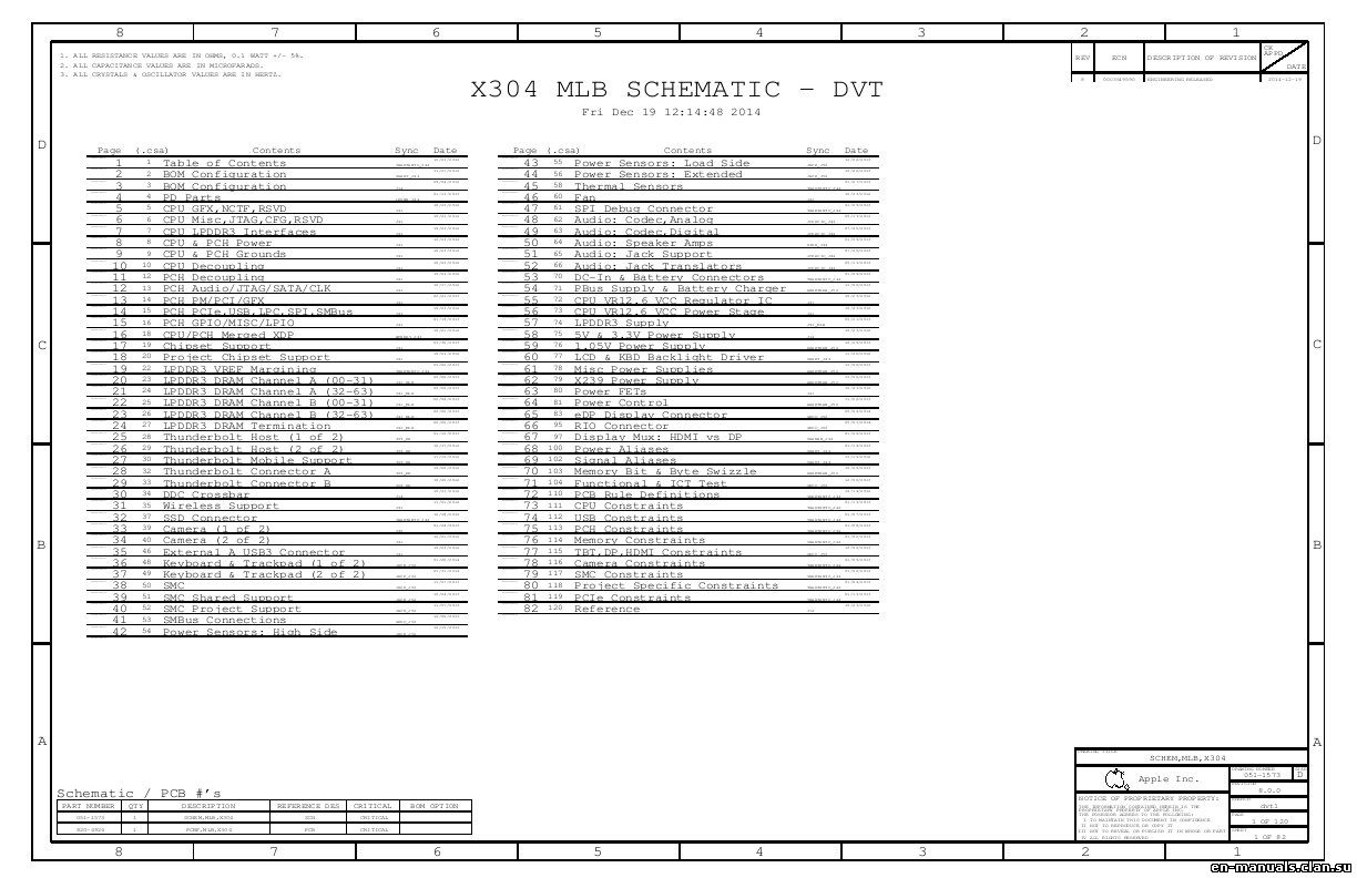 Schematics For Apple Macbook Pro 13 Retina A In The