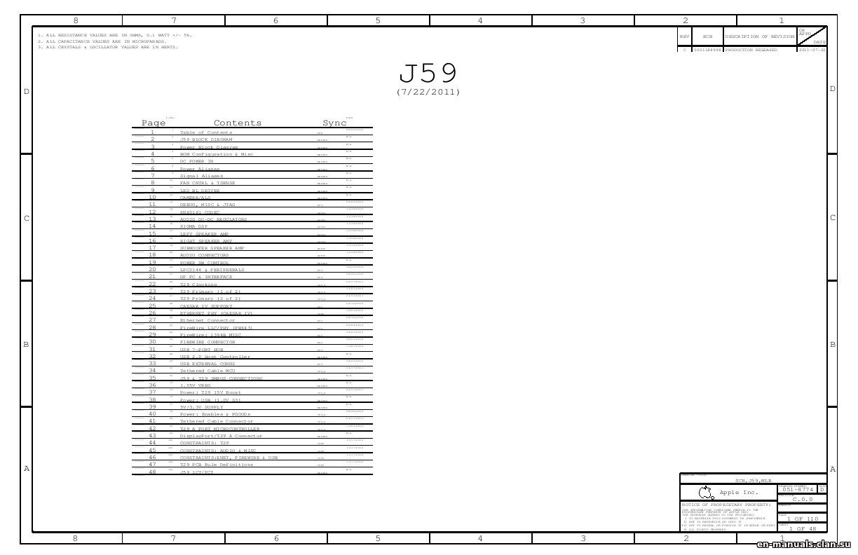 Schematics For Apple Thunderbolt Display 27 A In The