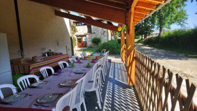 repas sous terrasse