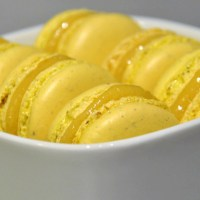 Passion fruit macarons