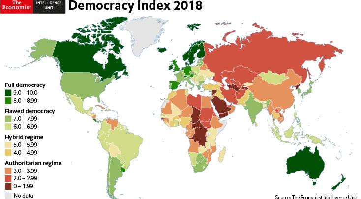 Libya ranks 16th regionally, 154th globally in democracy