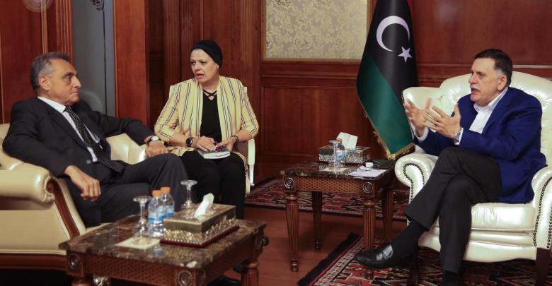 Photo of Sarraj, Italian amb. Libyan latest Tripoli battle developments