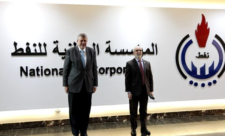 Photo of Kubis discusses with Sanalla NOC's neutral role in Libya