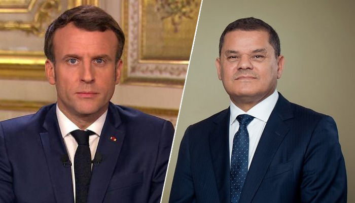 Photo of Dbeibah and Macron discuss transition to elections in Libya