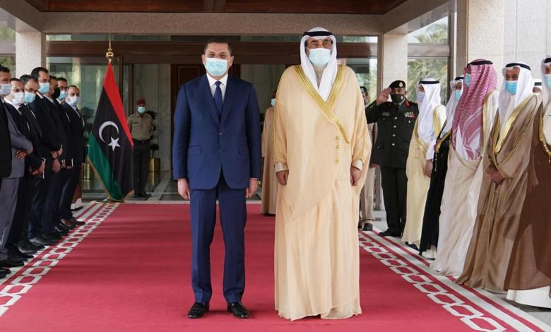 Photo of Dbeibah started Gulf tour with a visit to Kuwait