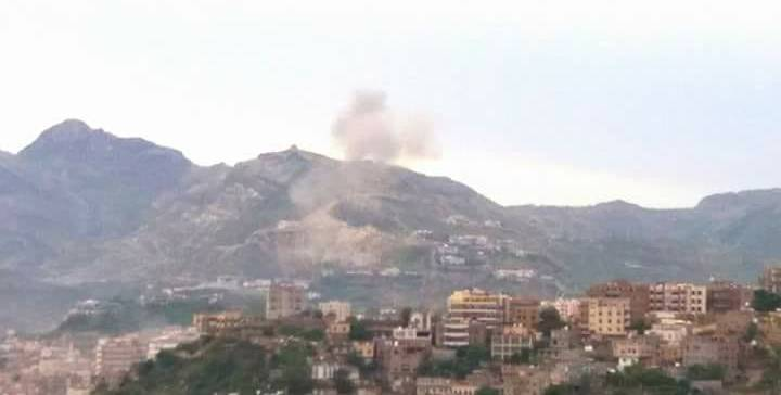 Dozens of dead and injured in the the militia and continuous bomb dropped in residential villages in Taiz