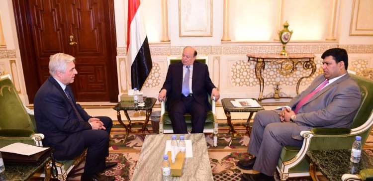 President Hadi meets with Russian Federation ambassador to our country
