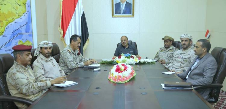 VP meets with Chef of Staff and Command of Arab Coalition Forces in Marib