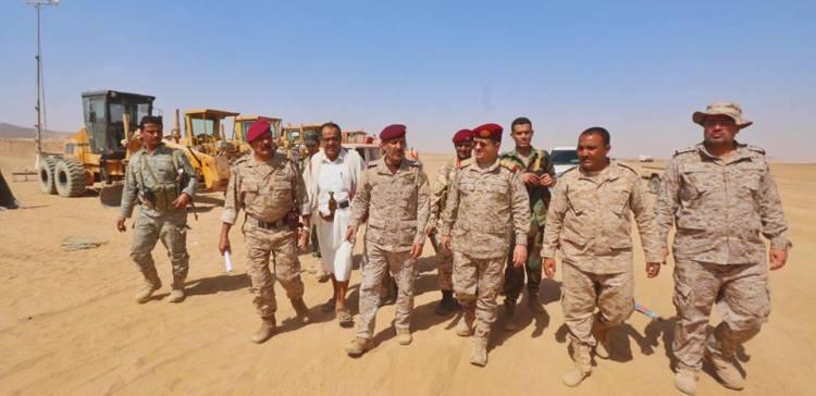 General Al-Maqdashi inspects construction project of Marib Airport