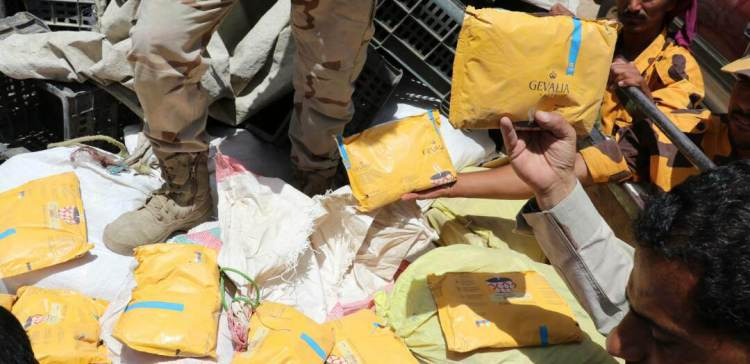 Security Forces seize 175kg of hashish in Marib