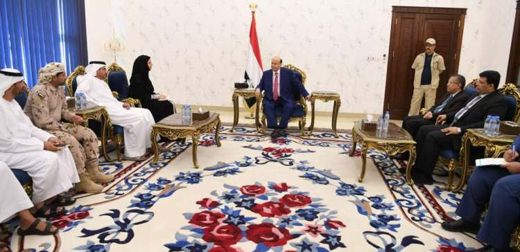 Hadi receives UAE Minister of State for International Cooperation