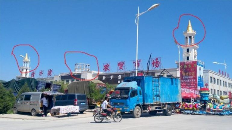 Islamic Symbols Removed From Buildings in Wuzhong, Ningxia