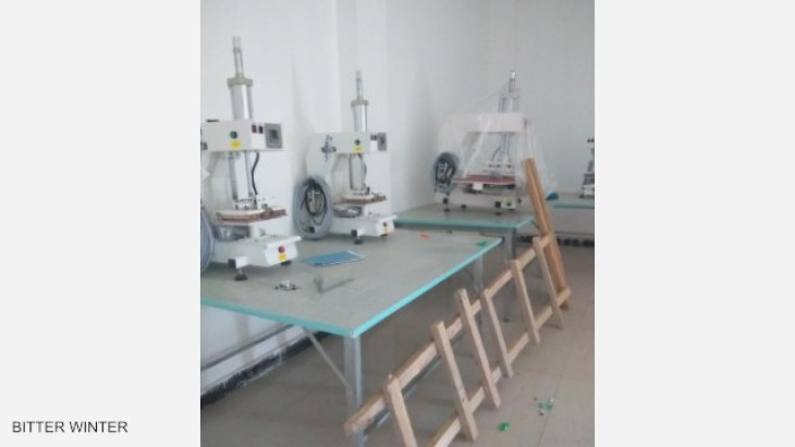 Machines and equipment have already been installed in the factory.