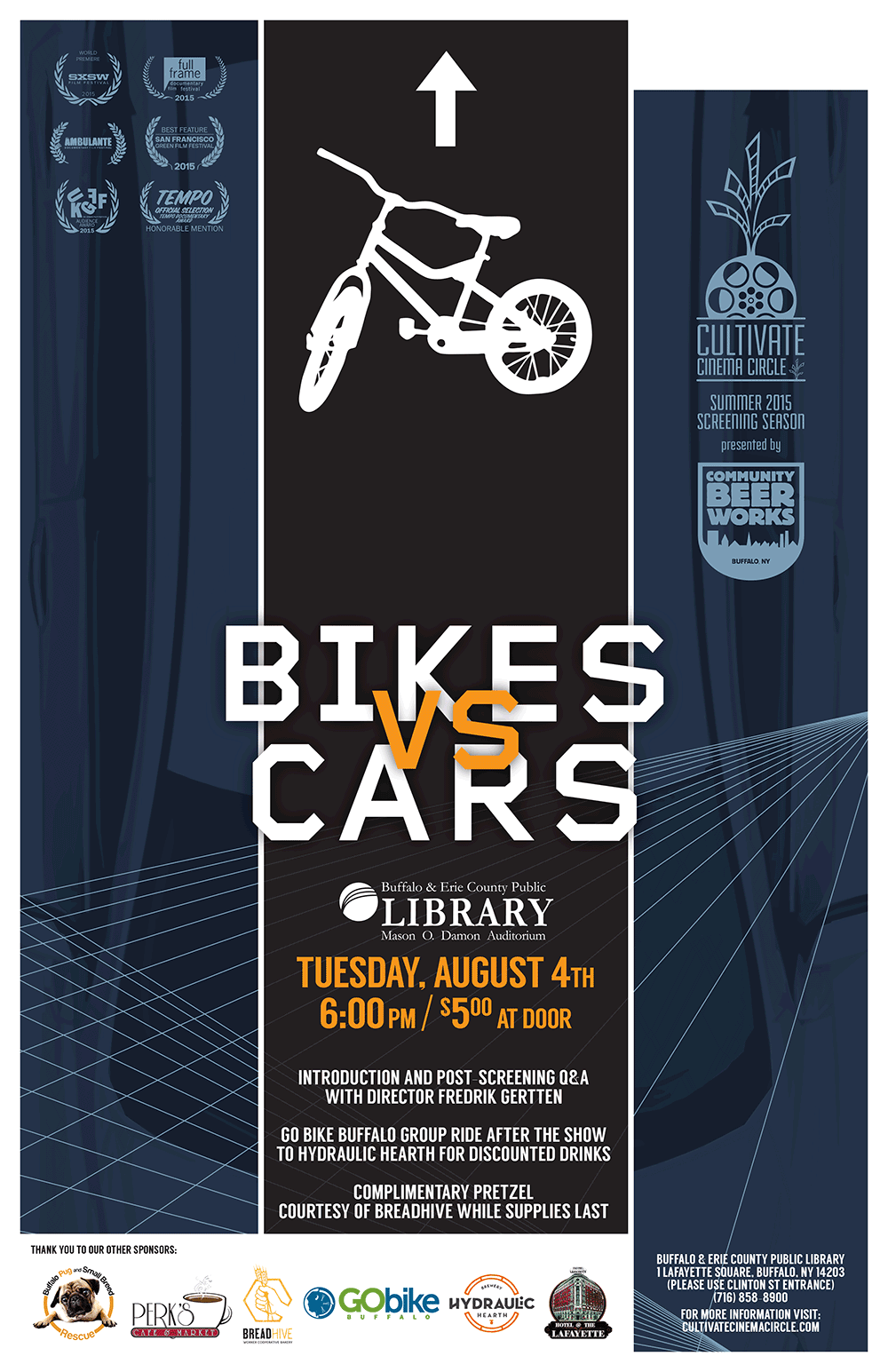 Poster of the film Bikes vs cars