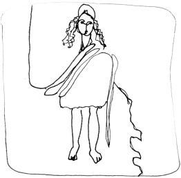 Marianne en toge:Marianne in toga dessin