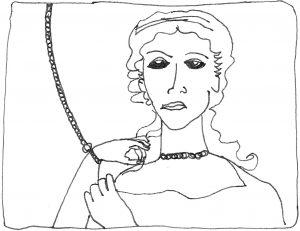 Greek statue chained slave women