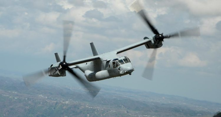 Bell Boeing v-22 Osprey tilttrotor 400.000 flight hours