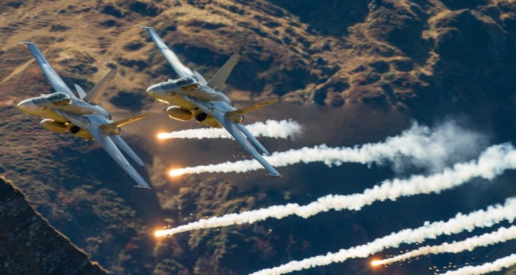 Swiss Air Force Axalp 2017 live fire demo