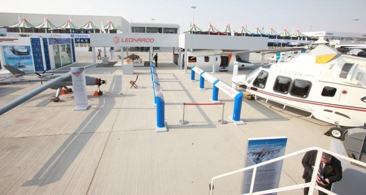 Italian Leonardo company at Dubai Air Shoe