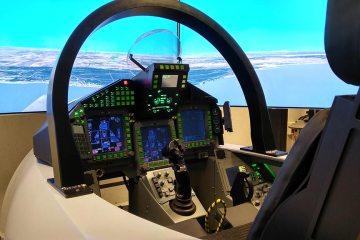 Indra flight Simulator Eurofighter