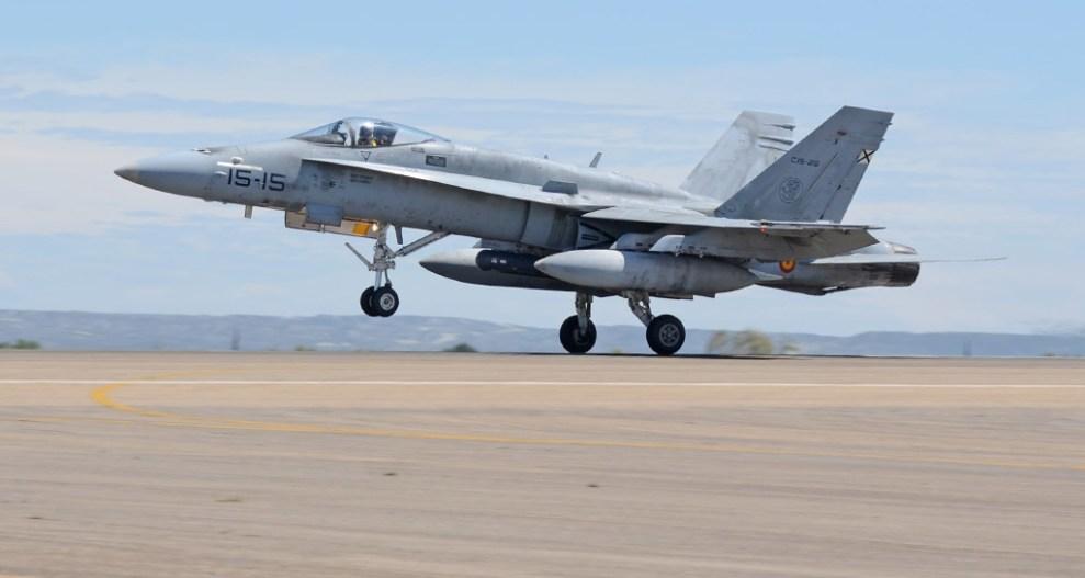 Spanish F-18 Hornets of Ala 15 in Zaragoza - Aviation Report - ENG