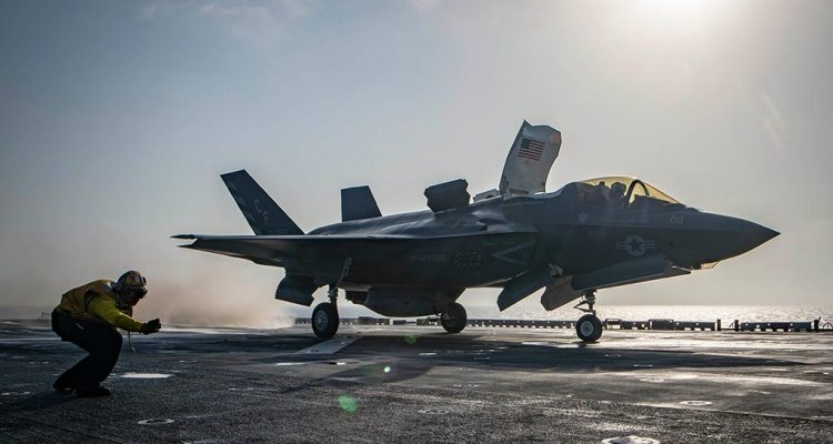 USMC F-35B first combat strike
