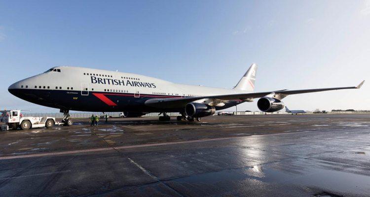 British Airways 747 in Landor special livery for centernary