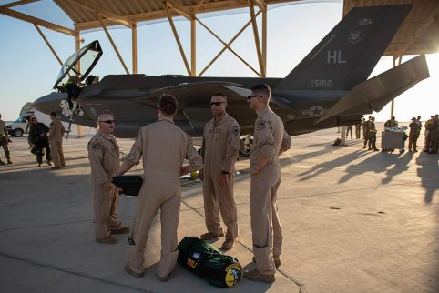 US F-35A in Middle East