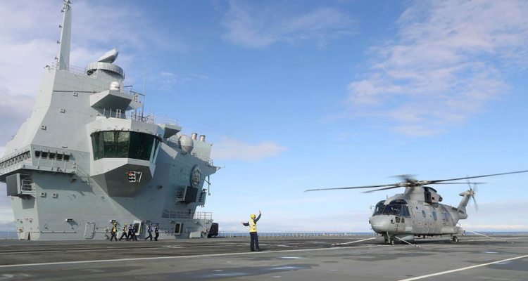 HMS Prince of Wales Merlin helicopter
