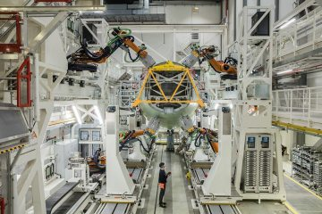 Hamburg Airbus A320 structure assembly line