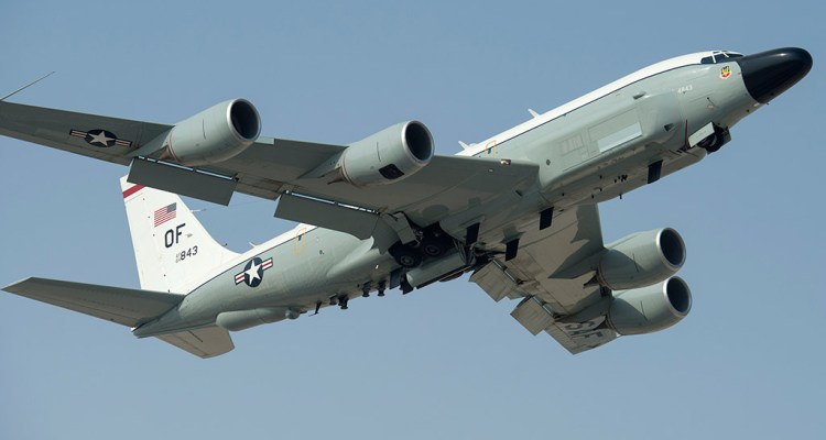 U.S. Air Force RC-135V/W Rivet Joint with the 763rd Expeditionary Reconnaissance Squadron