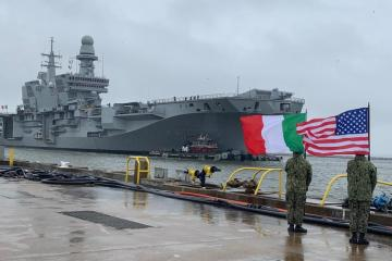 italian aircraft carrier cavour