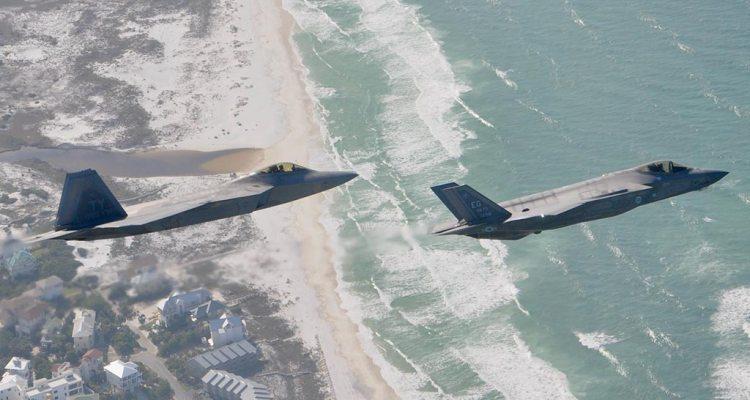 USAF F-22 and F-35 Tyndall AFB