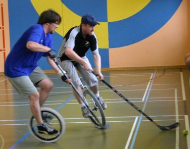 unusual sports - Unicycle Hockey