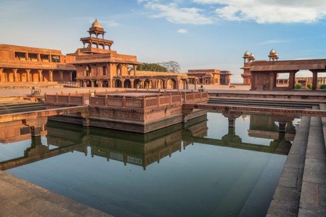 ancient ruins Fatehpur Sikri, India