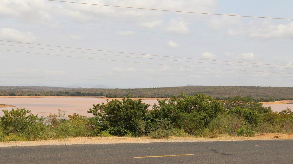 Bild på Kamburu-området där det ska byggas ett laboratorium och sågverk. 180629